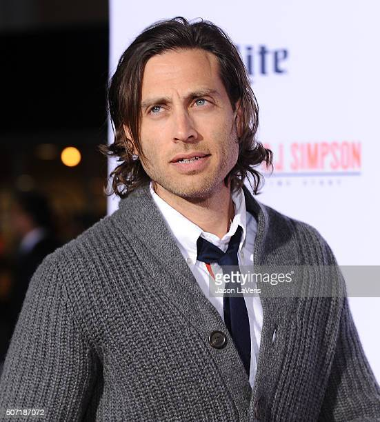 Producer Brad Falchuk attends the premiere of 'American Crime Story The People V OJ Simpson' at Westwood Village Theatre on January 27 2016 in...