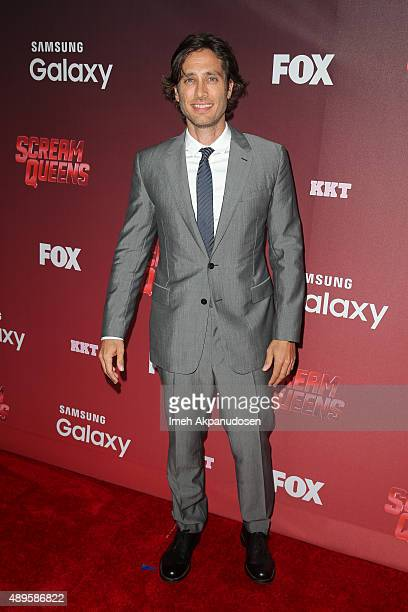 Producer Brad Falchuk attends the premiere of FOX TV's 'Scream Queens' at The Wilshire Ebell Theatre on September 21 2015 in Los Angeles California