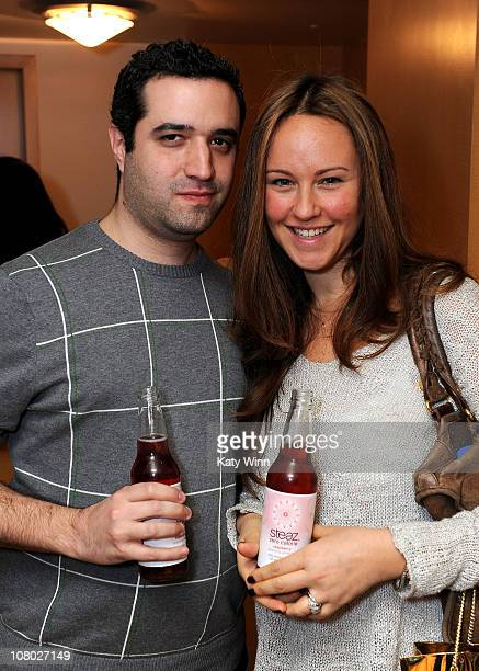 Producer Brad Fischer and Karen Fischer pose at the 2011 DPA Golden Globes Gift Suite at the L'Ermitage Hotel on January 13 2011 in Beverly Hills...