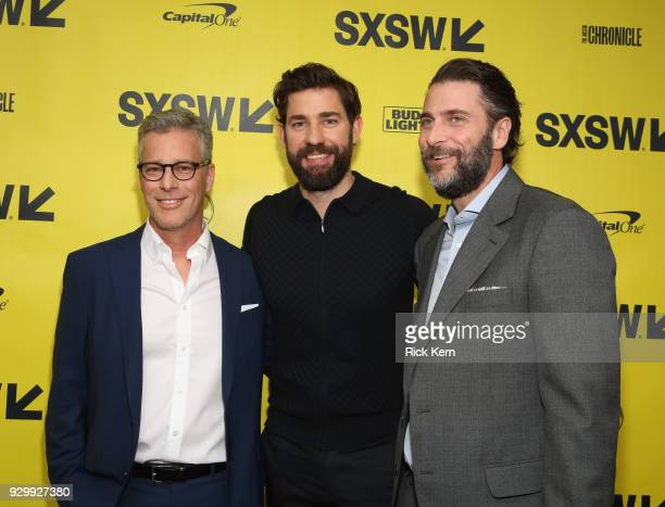 Producer Brad Fuller director/executive producer/writer John Kransinski and producer Andrew Form attend the Opening Night Screening and World...
