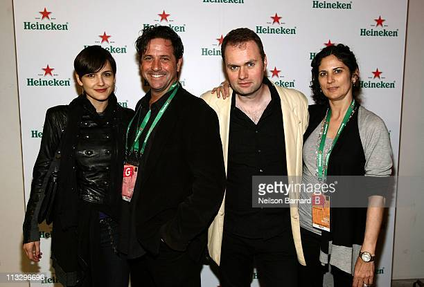 Producer Brad Koepenick producer Alex Rotaru producer Ronnie Planalp and guest attends the Tribeca Film Festival wrap party hosted by Heineken at...