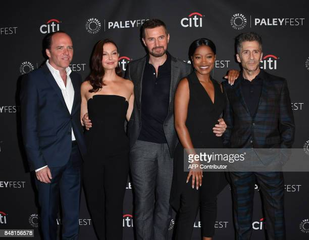 Producer Bradford Winters actors Ashley Judd Richard Armitage Keke Palmer and Leland Orser arrive on the red carpet for the EPIX 'Berlin Station'...