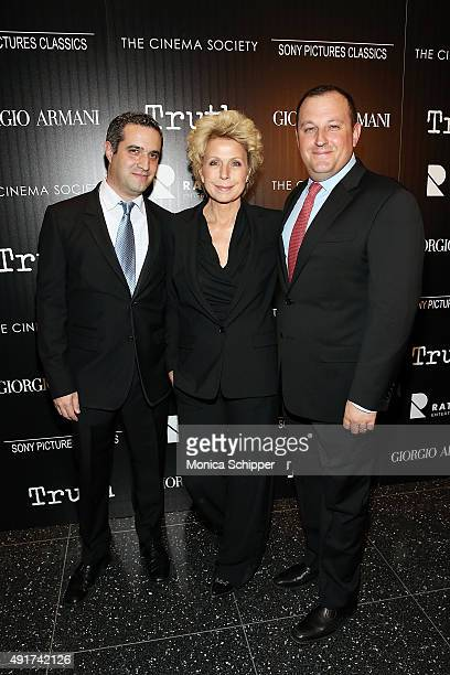 """Producer Bradley J Fischer, journalist Mary Mapes and producer William Sherak attend the screening of Sony Pictures Classics' """"Truth"""" hosted by..."""