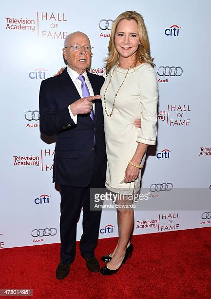 Producer Brandon Stoddard and AB Stoddard arrive at the The Television Academy's 23rd Hall Of Fame Induction Gala at The Regent Beverly Wilshire...