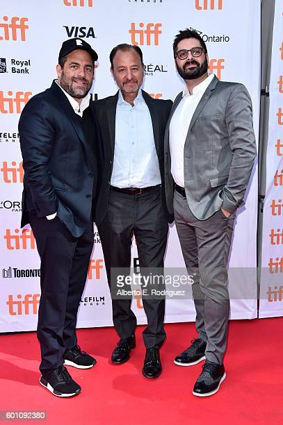 Producer Brett Ratner director Fisher Stevens and National Geographic Channel President of Original Programming Production Tim Pastore attend the...