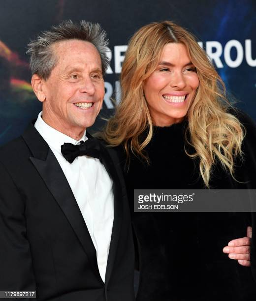 US producer Brian Grazer and his wife Veronica Smiley arrive for the 8th annual Breakthrough Prize awards ceremony at NASA Ames Research Center in...