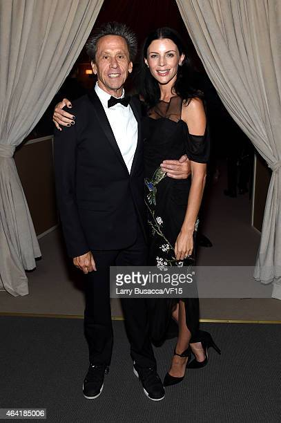 Producer Brian Grazer and model Liberty Ross attend the 2015 Vanity Fair Oscar Party Viewing Dinner hosted by Graydon Carter at the Wallis Annenberg...