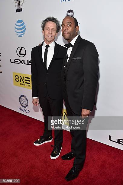 Producer Brian Grazer and NAACP President/CEO Cornell William Brooks attend the 47th NAACP Image Awards presented by TV One at Pasadena Civic...