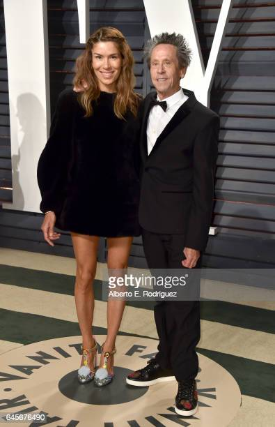 Producer Brian Grazer and Veronica Smiley attend the 2017 Vanity Fair Oscar Party hosted by Graydon Carter at Wallis Annenberg Center for the...