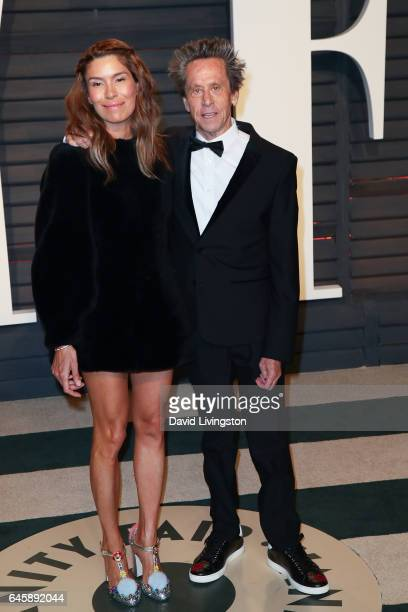 Producer Brian Grazer and Veronica Smiley attend the 2017 Vanity Fair Oscar Party hosted by Graydon Carter at the Wallis Annenberg Center for the...