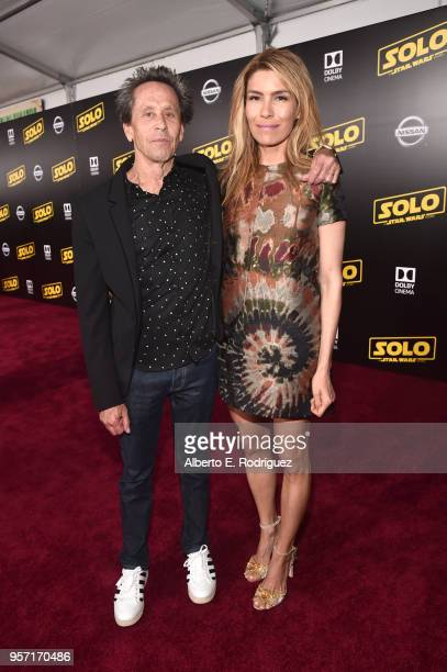 "Producer Brian Grazer and Veronica Smiley attend the world premiere of ""Solo A Star Wars Story"" in Hollywood on May 10 2018"