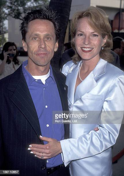 Producer Brian Grazer and wife Writer Gigi Levangie attend the 'Apollo 13' Beverly Hills Premiere on June 22 1995 at Academy Theatre in Beverly Hills...