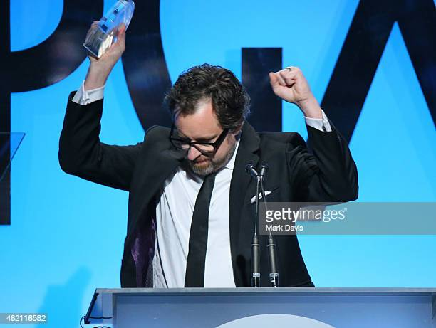 Producer Josh Lieb accepts the Outstanding Producer of Live Entertainment & Talk Television award for 'The Tonight Show Starring Jimmy Fallon'...