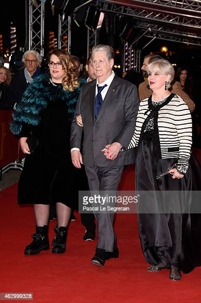Producer Brian Wilson his wife Melinda Ledbetter attend the 'Love Mercy' premiere during the 65th Berlinale International Film Festival at...