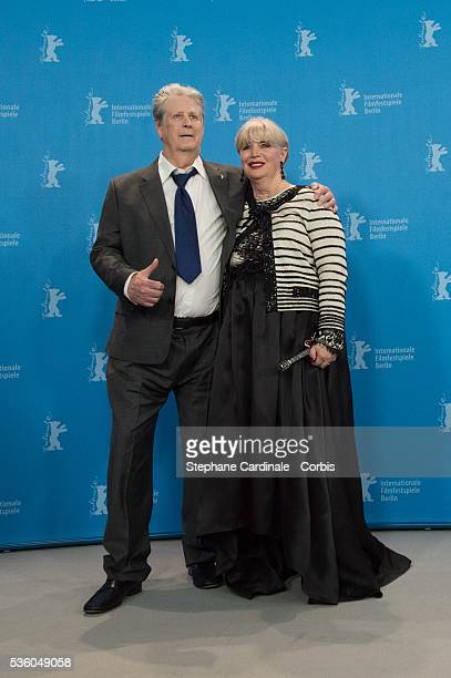 Producer Brian Wilson his wife Melinda Ledbetter attend the 'Love & Mercy' photocall during the 65th Berlinale International Film Festival at Grand...