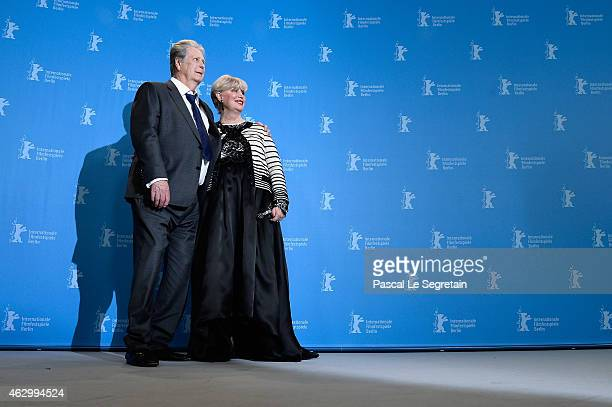 Producer Brian Wilson his wife Melinda Ledbetter attends the 'Love Mercy' photocall during the 65th Berlinale International Film Festival at Grand...