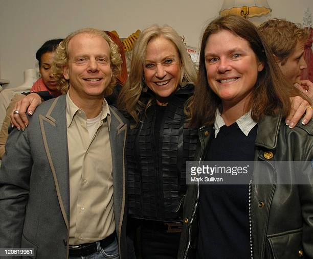 Producer Bruce Cohen Judy Ovitz and producer Grey Rembert attend the Kimberly Ovitz Trunk Show at Satine Boutique on March 12 2009 in Los Angeles...