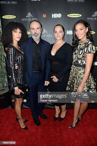 Producer Bruce Sudano husband of the late Donna Summer inductee with their daughters Amanda Sudano Mimi Sommer and Brooklyn Sudano attend the 28th...