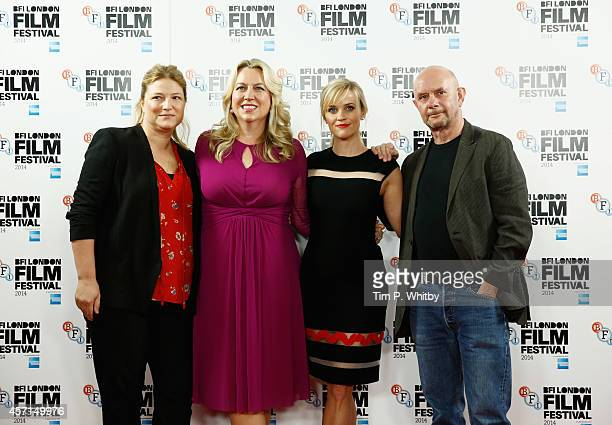 Producer Bruna Papandera writer Cheryl Strayed actress Reese Witherspoon and screenwriter Nick Hornby attend the photocall of 'Wild' during the 58th...