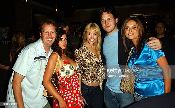 Producer Bryan Brucks actress Alison Waite actress Lisa Gleave actor Chris Pratt and actress Heidi Lynne Herschbach attend the wrap party for the...