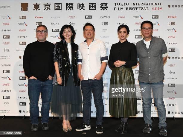 Producer Bryan Burk actress Kaho Minami director Brillante Mendoza actress Taraneh Alidoosti and director Stanley Kwan attend the Jury Press...