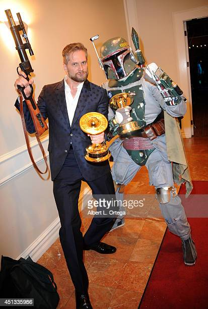 Producer Bryan Fuller and Boba Fett of Dark Side Riders attend the After Party for the 40th Annual Saturn Awards held at on June 26 2014 in Burbank...
