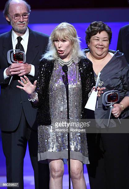 Producer Burt Metcalfe, Actress Loretta Swit and Actress Kellye Nakahara Wallet speak onstage at the 7th Annual TV Land Awards held at Gibson...