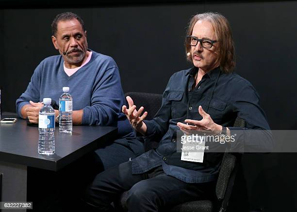 Producer Butch Vig speaks at the Pensado's booth during the 2017 NAMM Show at the Anaheim Convention Center on January 20 2017 in Anaheim California