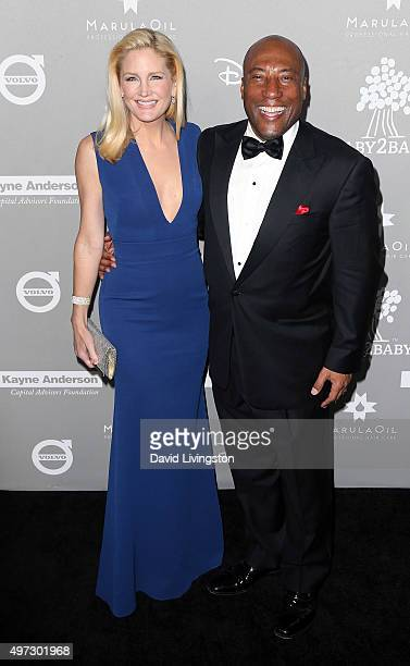 Producer Byron Allen and wife Jennifer Lucas attend the 2015 Baby2Baby Gala presented by MarulaOil Kayne Capital Advisors Foundation honoring Kerry...