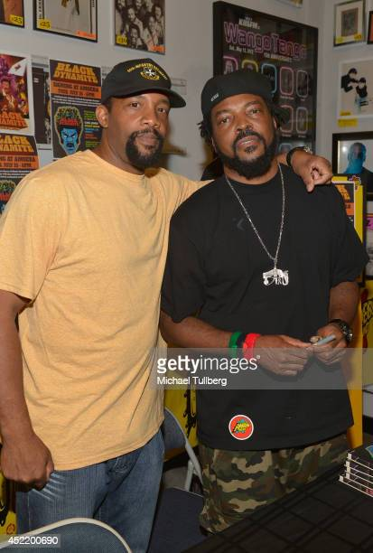 Producer Byron Minns and director Carl Jones attend a signing for the new DVD Black Dynamite at Amoeba Music on July 15 2014 in Hollywood California