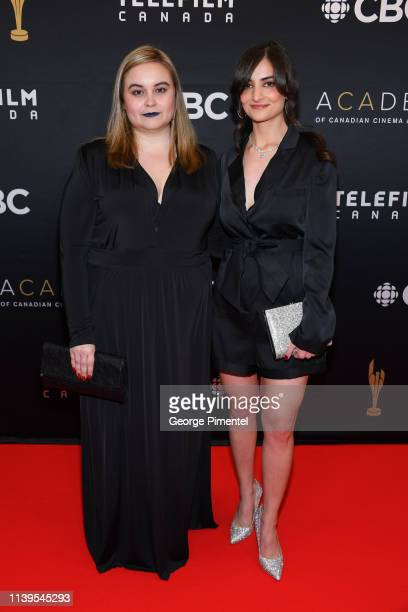 Producer Caitlin Grabham and Director Jasmin Mozaffari attend the 2019 Canadian Screen Awards Broadcast Gala at Sony Centre for the Performing Arts...