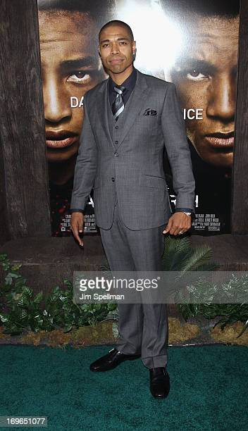 Producer Caleeb Pinkett attends the 'After Earth' premiere at the Ziegfeld Theater on May 29 2013 in New York City