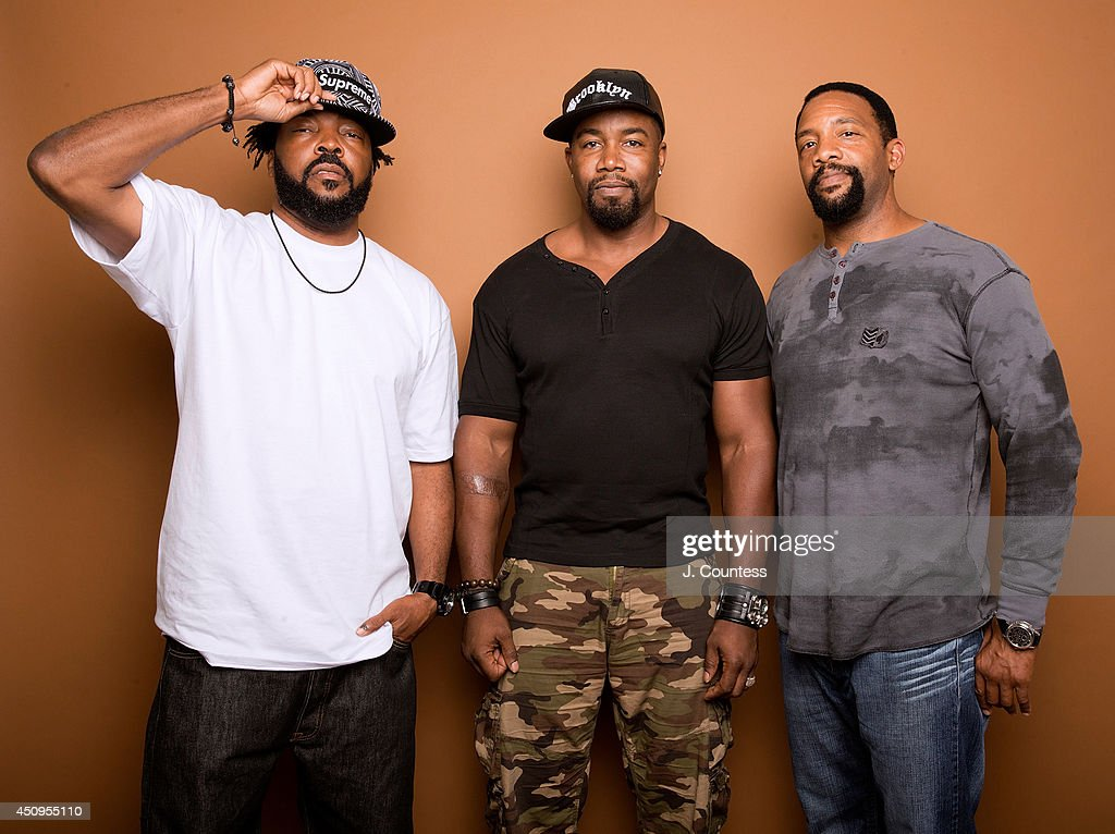 Producer Carl Jones, actor Michael Jai White and actor Byron Minns pose for a portrait at the 2014 American Black Film Festival at the Metropolitan Pavillion on June 20, 2014 in New York City.
