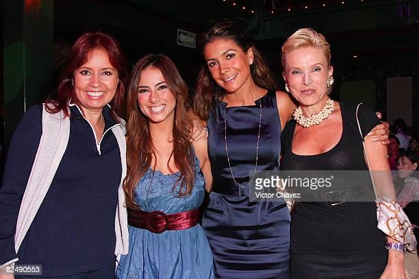 TV producer Carla Estrada Tv personality Claudia Lizaldi Singer Patricia Manterola and Socialite Raquel Bessudo attends the CLOE launch of travel set...