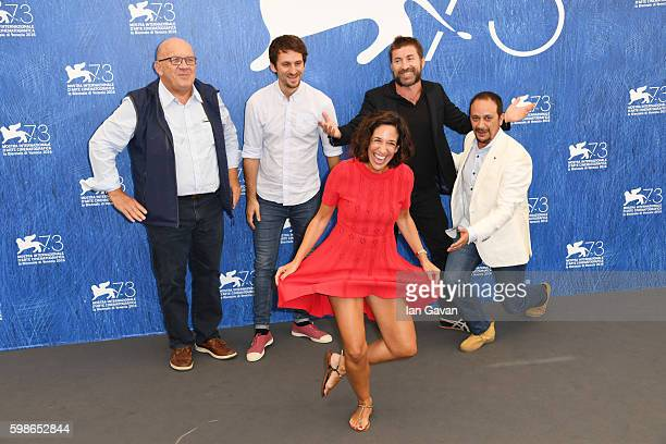 Producer Carlo Degli Esposti director Raul Arevalo producer Beatriz Bodegas actors Antonio De La Torre and Luis Callejo attend a photocall for 'The...
