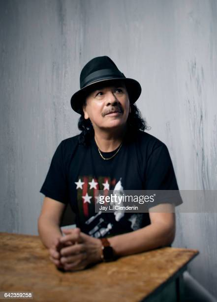 Producer Carlos Santana from the film 'Dolores' is photographed at the 2017 Sundance Film Festival for Los Angeles Times on January 20 2017 in Park...