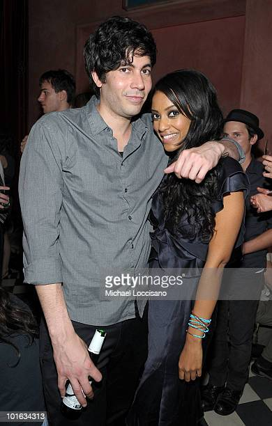 Producer Carlos Velazquez and actress Azie Tesfai attend the after party for the premiere of Rosencrantz and Guildenstern Are Undead at Village East...