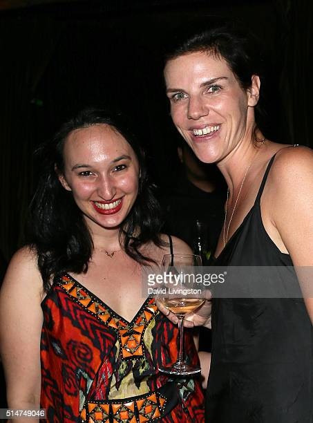 Producer Carly Hugo and executive producer Annabelle Dunne attend a reception following the premiere of HBO's 'Everything Is Copy' at The Roosevelt...