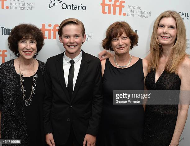 Producer Carol Baum actor Garrett Wareing producer Jane Goldenring and producer Judy Cairo attend the Boychoir premiere during the 2014 Toronto...
