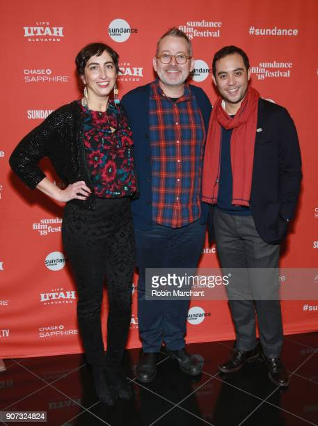 Producer Caryn Capotosto Director Morgan Neville and Producer Nicholas Ma attend the 'Wont You Be My Neighbor' Premiere during 2018 Sundance Film...