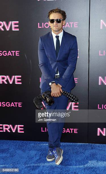 """Producer Casey Neistat attends the """"Nerve"""" New York premiere at SVA Theater on July 12, 2016 in New York City."""