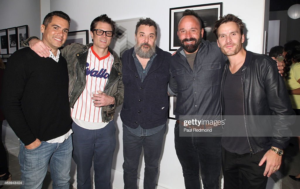 Producer Cash Warren, actor Johnny Nashville, director Mark Romanek, photographer Michael Muller and actor Balthazar Getty attend the