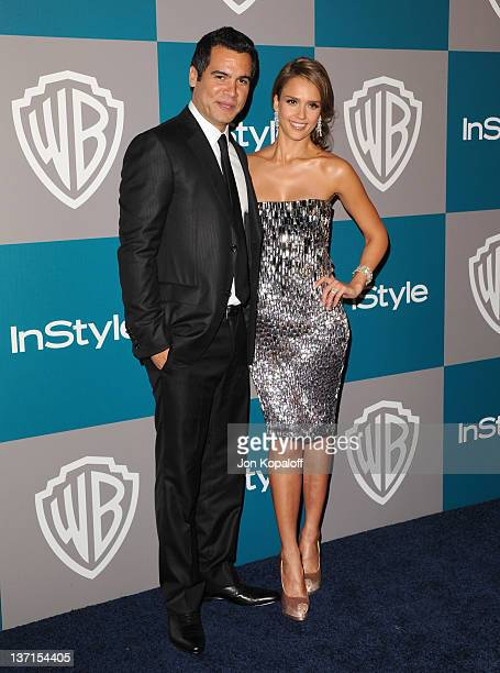 Producer Cash Warren and Actress Jessica Alba arrive at the 13th Annual Warner Bros. And InStyle Golden Globe After Party held at The Beverly Hilton...