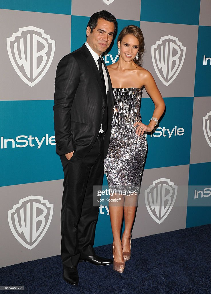 Producer Cash Warren and Actress Jessica Alba arrive at the 13th Annual Warner Bros. And InStyle Golden Globe After Party held at The Beverly Hilton hotel on January 15, 2012 in Beverly Hills, California.