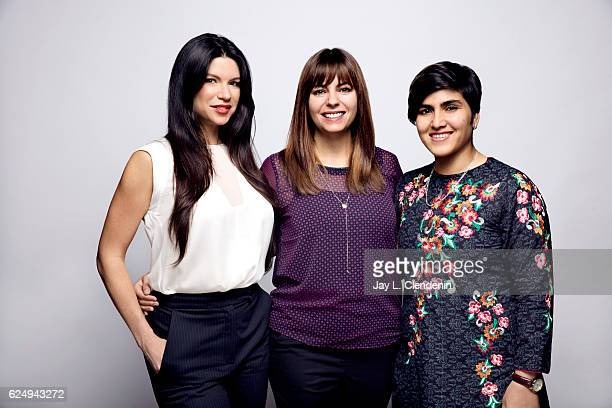 Producer Cassandra SanfordRosenthal director Erin Heidenreich and Maria Torpali Wazir from the film Girl Unbound pose for a portraits at the Toronto...