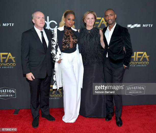 Producer Cassian Elwes honoree Mary J Blige producer Kim Roth and producer Charles D King attend the 21st Annual Hollywood Film Awards at The Beverly...