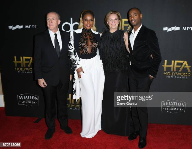 Producer Cassian Elwes, honoree Mary J. Blige, producer Kim Roth, and producer Charles D. King attend the 21st Annual Hollywood Film Awards at The...