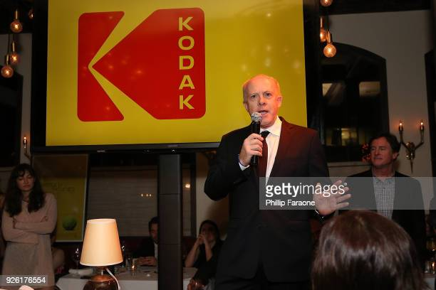 Producer Cassian Elwes speaks onstage during the Kodak Motion Picture Awards Season Celebration on March 1, 2018 in Los Angeles, California.