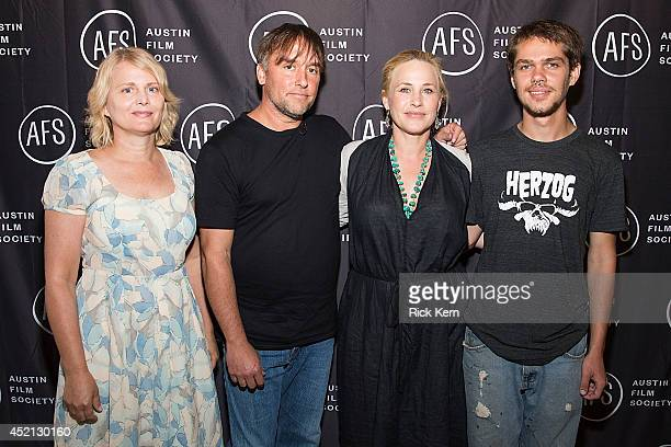 Producer Cathleen Sutherland, director Richard Linklater, actress Patricia Arquette, and actor Ellar Coltrane pose for a photo during the premiere of...