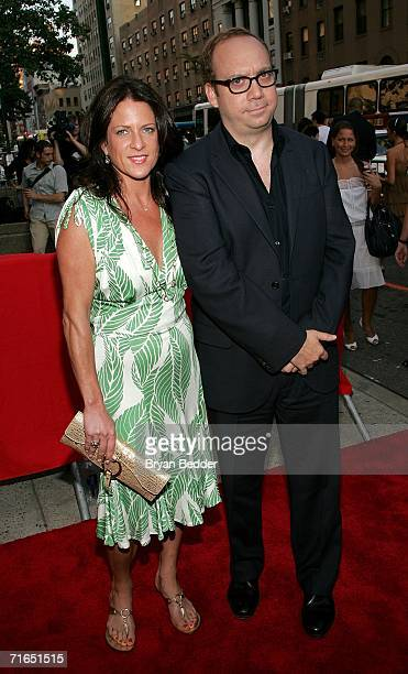 Producer Cathy Schulman and actor Paul Giamatti attends Yari Film Group's premiere of The Illusionist at Chelsea West Cinemas August 15 2006 in New...